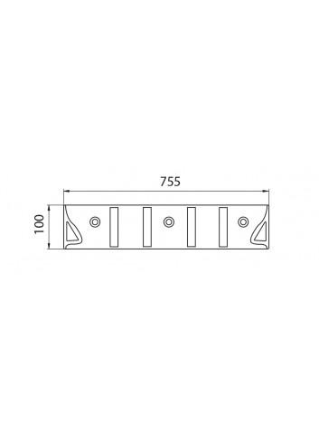 Planell Delimitador & separador carril Piano Black