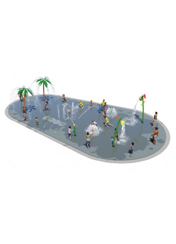 Lot Splashpad 40U