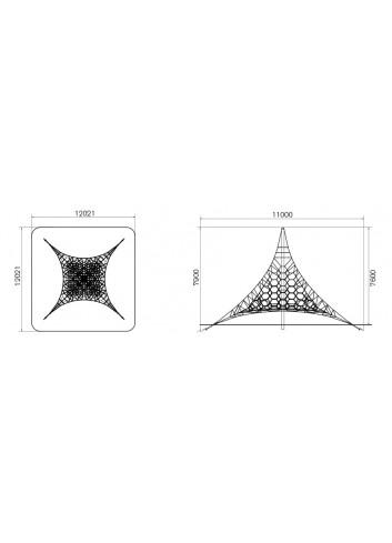 Planell Xarxa tridimensional 8 m