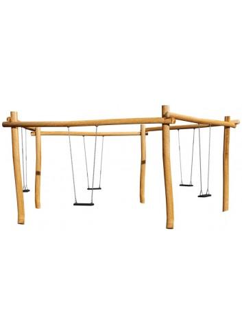 Pentacolumpio en madera de robinia y 5 asientos planos