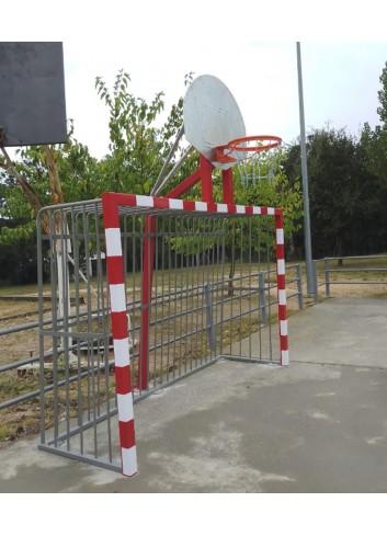Portería fútbol sala + Canasta baloncesto antivandálica-03